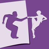 Применение танцоров иллюстрация штока