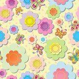 Применение цветков и бабочек Стоковая Фотография RF