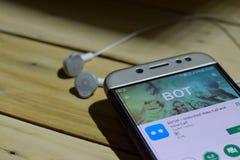 Применение dev BOTIM на экране Smartphone Разблокированный видео- звонок & речевой вызов браузер freeware начатый СРЕДСТВОМ стоковое фото