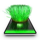 Применение smartphone растет трава иллюстрация штока