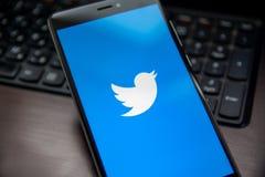 Применение Twitter стоковое изображение rf