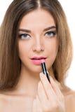 Применяться губной помады Стоковая Фотография RF