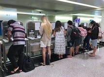 Применяющся для приземляясь визы в авиапорте Хошимина, Vietn Стоковая Фотография