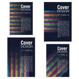 4 примера абстрактного дизайна крышки установьте текст Стоковое Изображение RF