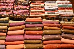 Примеры ткани различных цвета и типа Стоковое Изображение