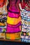 Примеры ткани различных цвета и типа Стоковые Фото