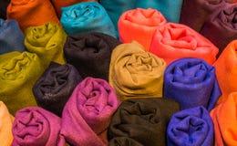 Примеры ткани различных цвета и типа Стоковая Фотография