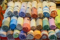 Примеры ткани различных цвета и типа Стоковая Фотография RF