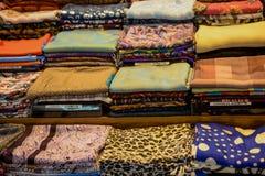 Примеры ткани различных цвета и типа Стоковые Изображения RF