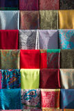 Примеры ткани различных цвета и типа Стоковое Изображение RF