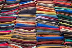 Примеры ткани различных цвета и типа Стоковое фото RF