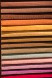 Примеры ткани различных цвета и типа Стоковые Фотографии RF