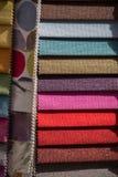 Примеры ткани различных цвета и типа Стоковое Фото