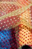 Примеры ткани различных цвета и типа Стоковые Изображения
