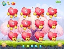 Пример выбора уровней на день валентинки темы стоковые изображения