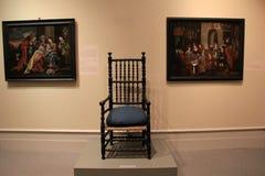 Пример повернутого большого стула, редкого оставшийся в живых искусства тернера, института истории и искусства, Albany, 2016 Стоковые Изображения