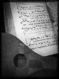 Пример предыдущей нотации музыки Стоковое Изображение RF