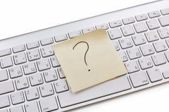 Примечание белой клавиатуры липкое Стоковое Изображение RF