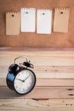 Примечание будильника и напоминания Стоковые Изображения RF