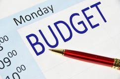 Примечание бюджета Стоковое Изображение RF
