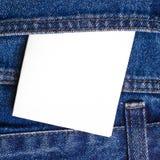Примечание в карманн джинсов Стоковое Изображение RF