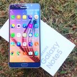 Примечание 5 галактики Samsung Стоковые Фото
