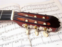 примечание гитары Стоковое Изображение