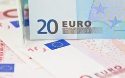 Примечание евро 20 - мягкий фокус Стоковое Изображение RF