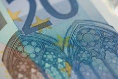 примечание евро 20 Стоковая Фотография