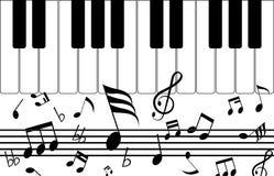 Примечание и музыка иллюстрация штока