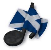 Примечание музыки и флаг scottish Стоковые Фото