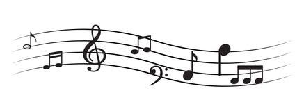 Примечание музыки с символами Стоковое фото RF