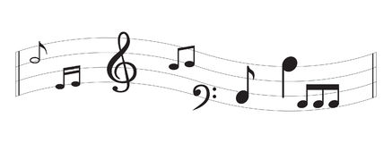 Примечание музыки с символами Стоковые Фотографии RF