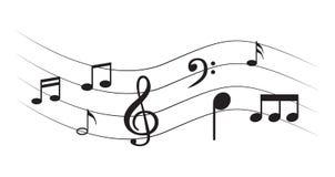 Примечание музыки с символами Стоковые Фото