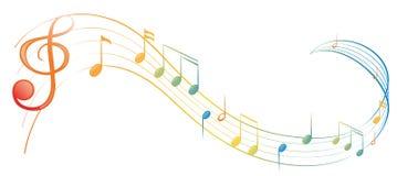 Примечание музыки иллюстрация штока