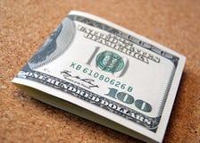 примечание одно доллара 100 Стоковые Фото