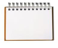 примечание пустой книги горизонтальное стоковое изображение rf