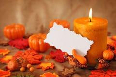 примечание свечек осени пустое стоковые изображения