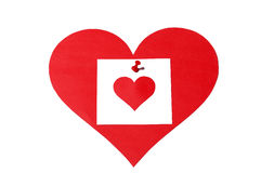 примечание сердца Стоковое Изображение RF
