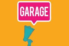 Примечание сочинительства показывая гараж Здание фото дела showcasing для расквартировывать моторный транспорт или корабли для то бесплатная иллюстрация