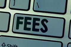 Примечание сочинительства показывая гонорары Оплата фото дела showcasing сделанная к персоне для денег работы оплатила как часть  стоковое изображение rf