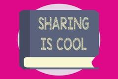 Примечание сочинительства показывая делить холодно Давать фото дела showcasing и получать услуги или товары знания i иллюстрация вектора