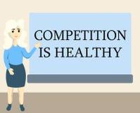 Примечание сочинительства показывая конкуренцию здорово Соперничество фото дела showcasing хорошо в любом рискованом начинании во бесплатная иллюстрация