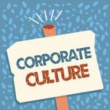Примечание сочинительства показывая корпоративную культуру Верования и идеи фото дела showcasing что компания имеет, который деля иллюстрация вектора