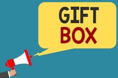 Примечание сочинительства показывая подарочную коробку Фото дела showcasing cointainer a малое с дизайнами способными регулироват бесплатная иллюстрация