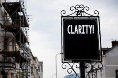 Примечание сочинительства показывая ясность Точность Vintag прозрачности усвояемости очищенности точности определенности фото дел стоковые фото