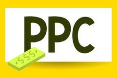 Примечание сочинительства показывая Ppc Рекламодателя фото дела showcasing оплачивают гонорар каждый раз одно из их объявлений ще бесплатная иллюстрация