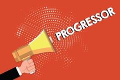 Примечание сочинительства показывая Progressor Персона фото дела showcasing которая делает прогресс или облегчает его в других бесплатная иллюстрация