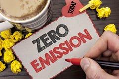 Примечание сочинительства показывая zero излучение Источник энергии мотора двигателя фото дела showcasing который не испускает ни стоковая фотография