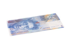 Примечание швейцарского франка стоковое фото rf